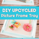 Picture frame tray displayed