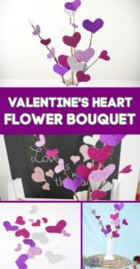 Collage of purple and pink heart flowers