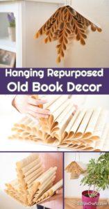 Hanging book decoration displayed
