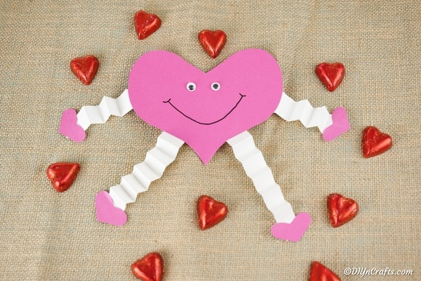 Adorable Happy Paper Heart Decoration Kids Craft