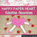Collage of making paper heart decoration