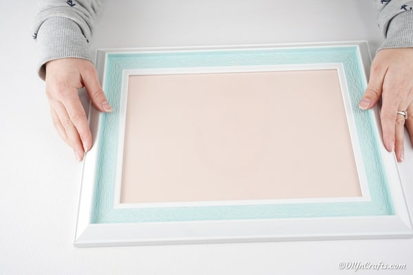 Removing the backing on the picture frame