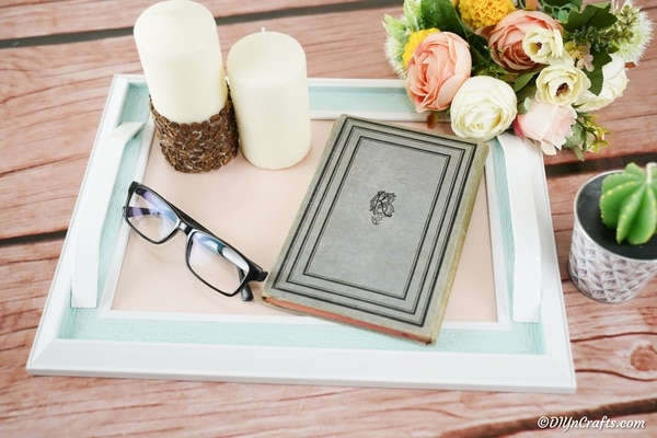 DIY Upcycled Picture Frame Tray