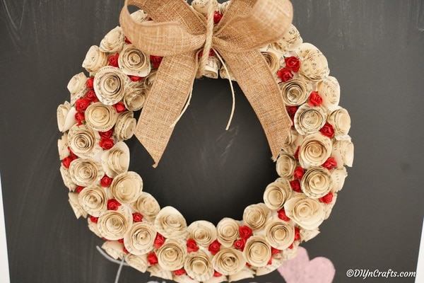 Gorgeous DIY Old Book Rose Heart Wreath