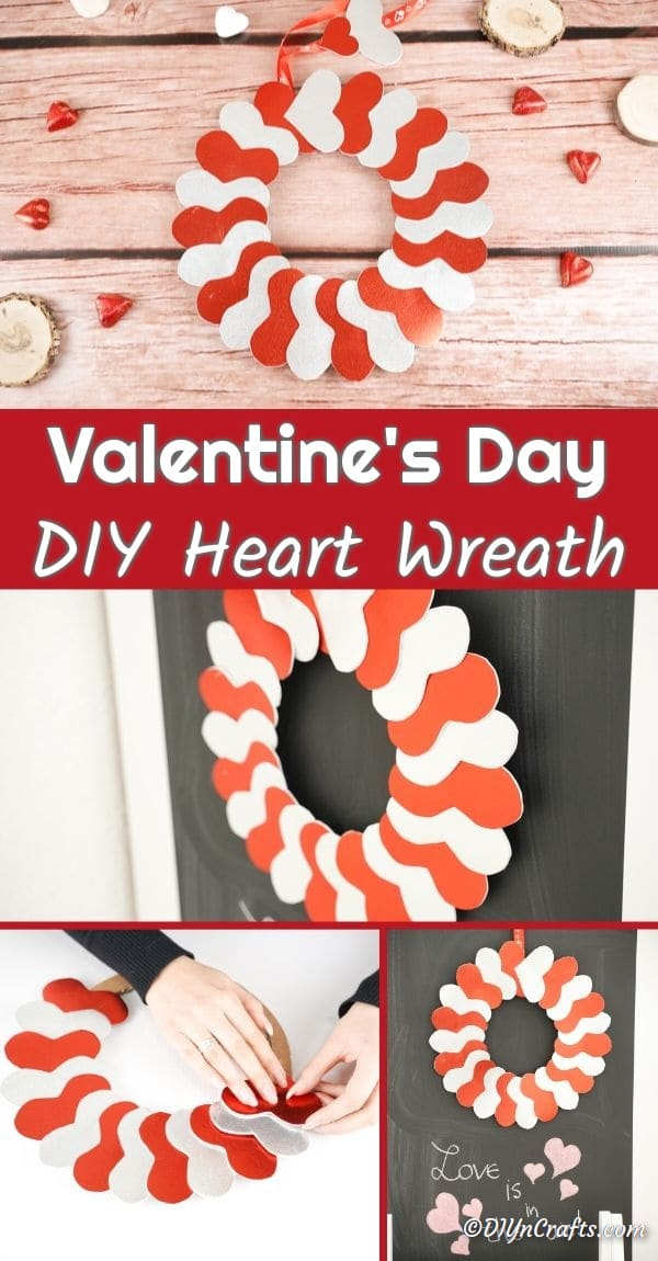 Collage of heart wreath