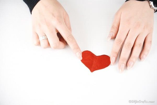 Red foam heart