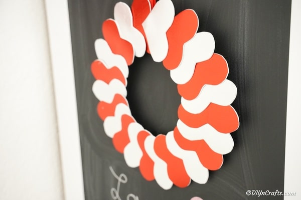 Wreath against chalkboard