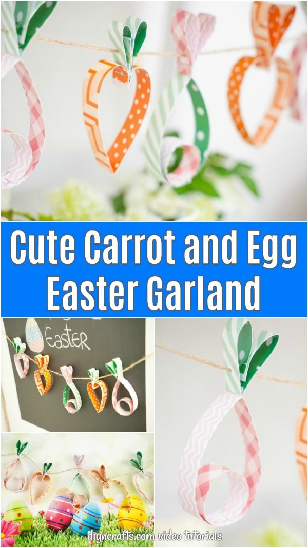 Carrot and Egg Easter Garland Collage
