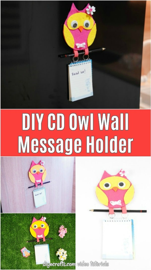 CD Owl Wall Message holder collage