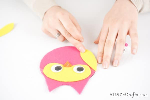 Gluing wings onto owl
