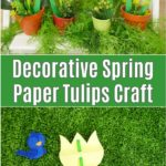 Collage of paper tulip flowers