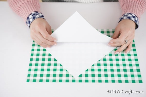 Folding paper to create a templte