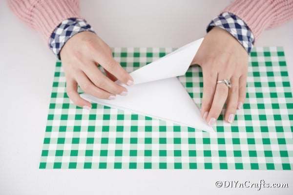 Folding paper to create a template