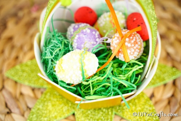 Eater egg basket filled with mini eggs