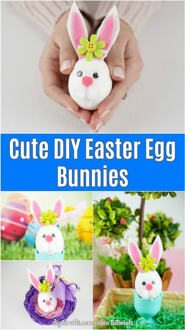 Easter egg bunny collage