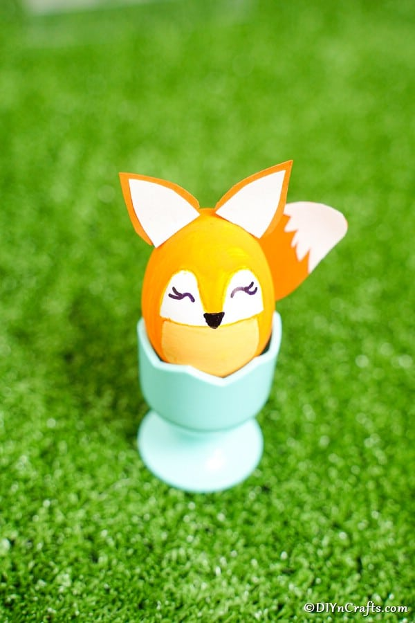 Easter egg fox on