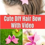 Hair bow tutorial collage