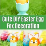 Fox easter egg decoration in cup