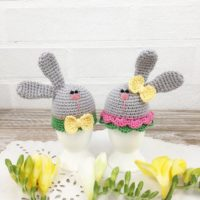 Crochet Easter Bunny Egg Topper