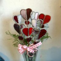 Stained Glass Heart Bouquet