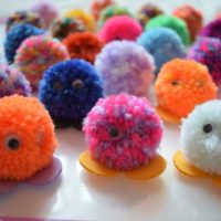 Pack of 5 Quiet Critters / Pom Pom Monsters