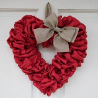 Valentine's Day Fabric Heart Wreath