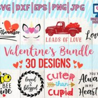 Valentine's Colorful SVG Files