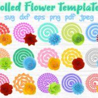 Rolled Flower SVG File