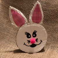 Easter bunny wood slice