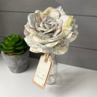Handmade Map Paper Flower