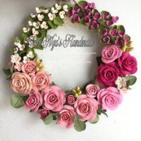 Paper Quilling Rose Wreath