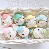Crochet Easter Bunny Egg Set