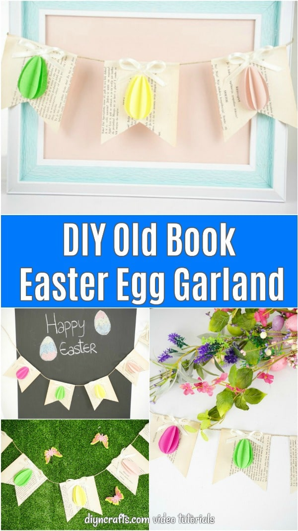Easter egg garland collage image
