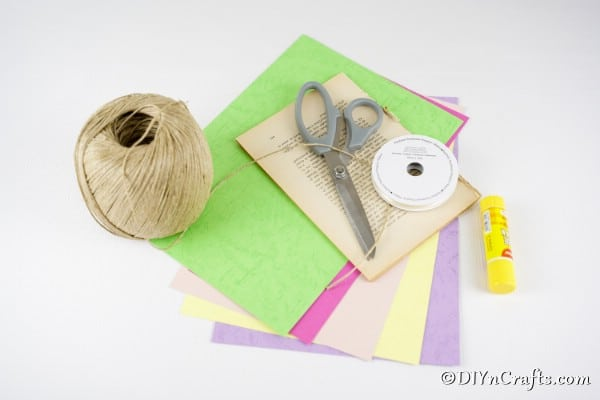 Supplies for Easter egg garland