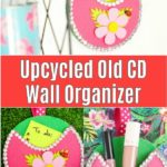 Collage of old CD wall organizer collage
