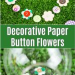 Paper button flower collage