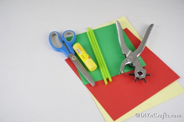 Supplies for paper tulips