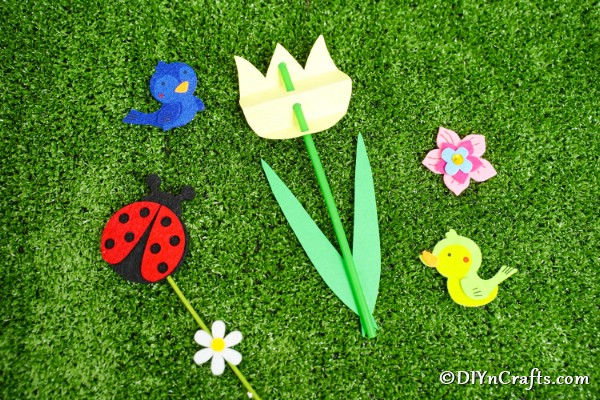 Decorative Spring Paper Tulips Craft