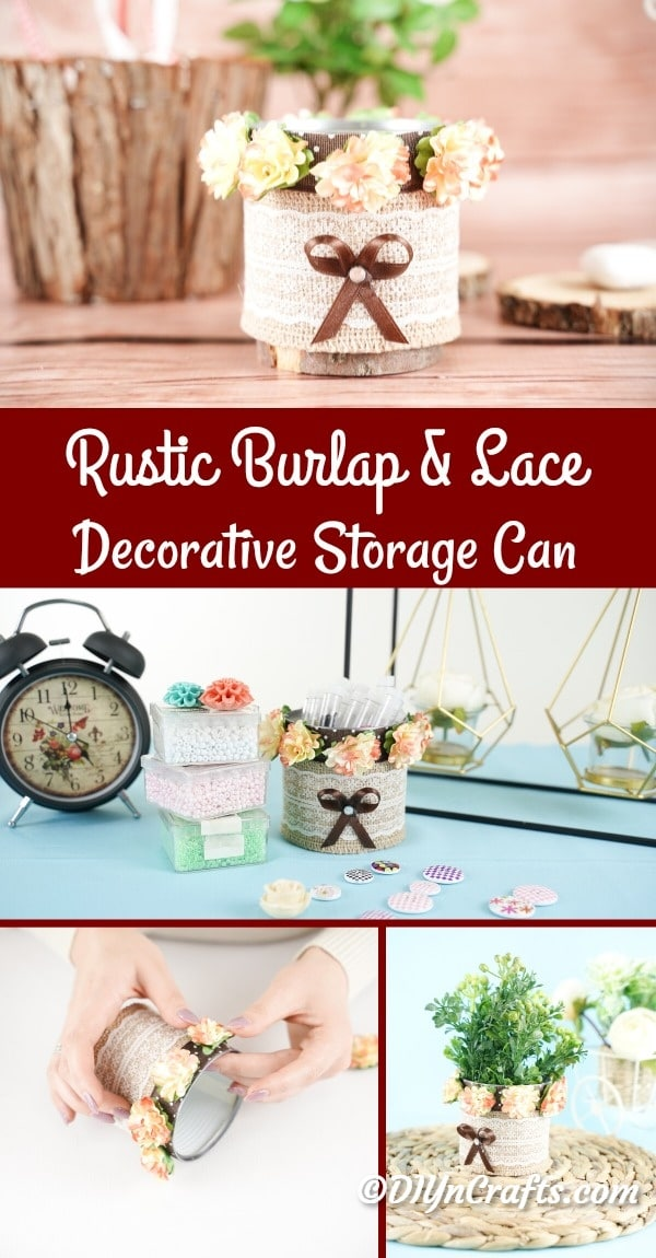 Decorative storage can collage