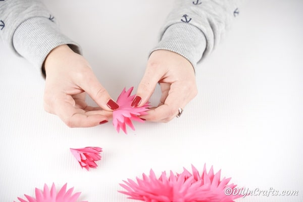 Creating more paper flower pieces