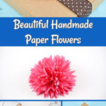 Paper flowers collage