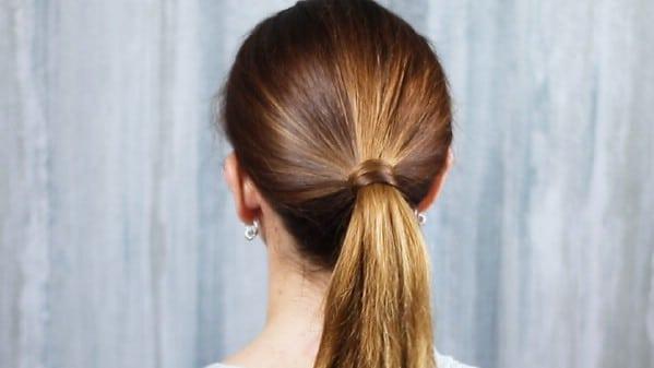 Secured ponytail