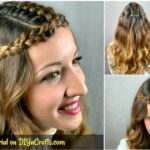 Princess style hairstyle collage