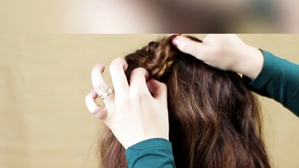 Securing hair with bobby pins