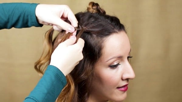 Braiding second side of hair
