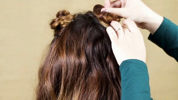 Pinning braid in place