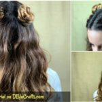 Top knot buns collage
