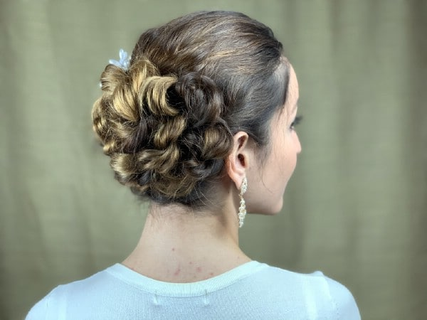 Brunette with braided bun