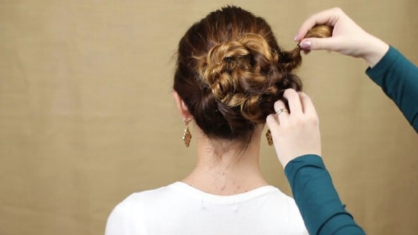 Pinning braids in place