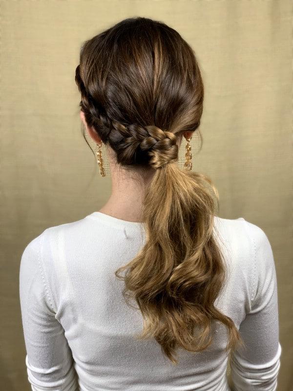 Low side ponytail braid
